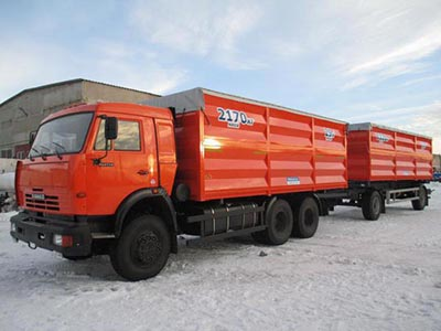 Самосвал КАМАЗ-65115 D3 (15 тн;10,5 м3)+ прицеп (12,5 тн; 7м3)
